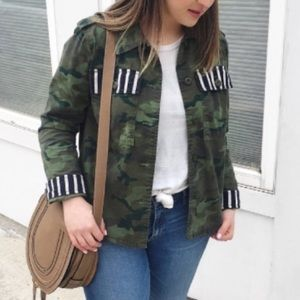Limited Edition GAP Camo/Stripe Jacket, Size M